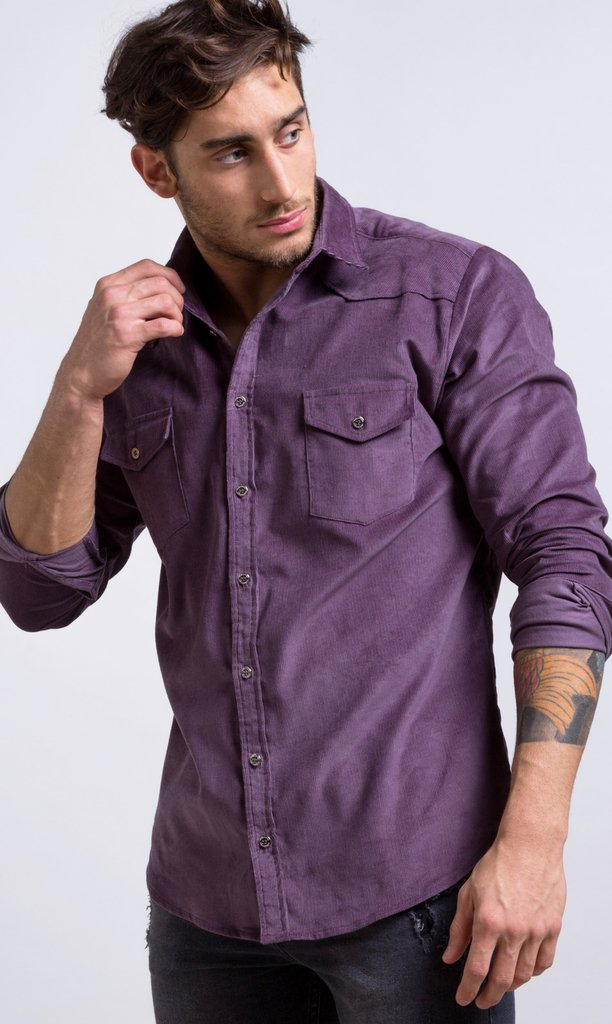 Cuorderoy shirt - lavender - buy online