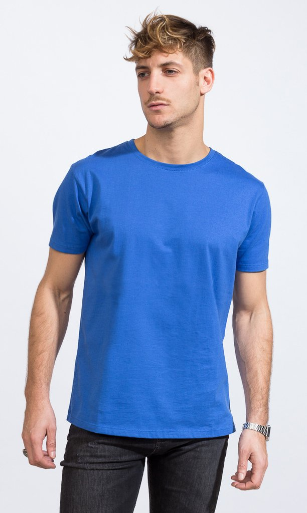 Basic tshirt - Regular fit - light blue