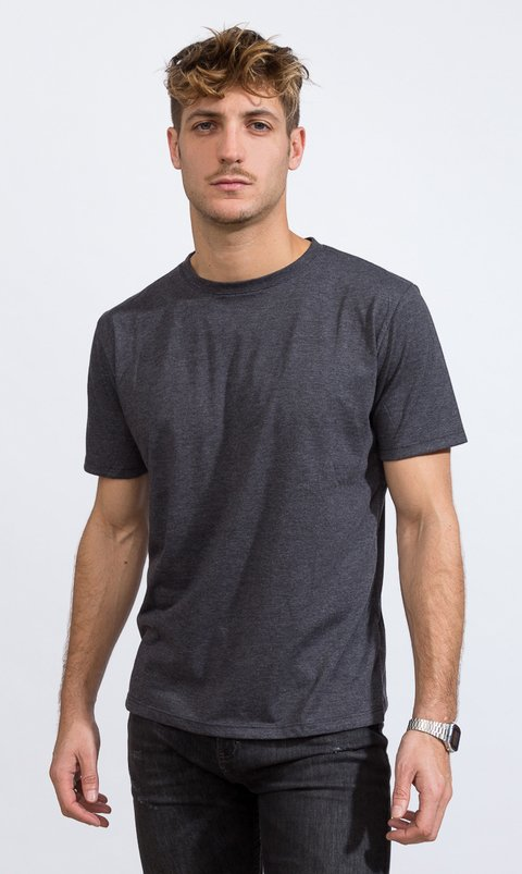 Basic tshirt - Regular fit - Dark Grey