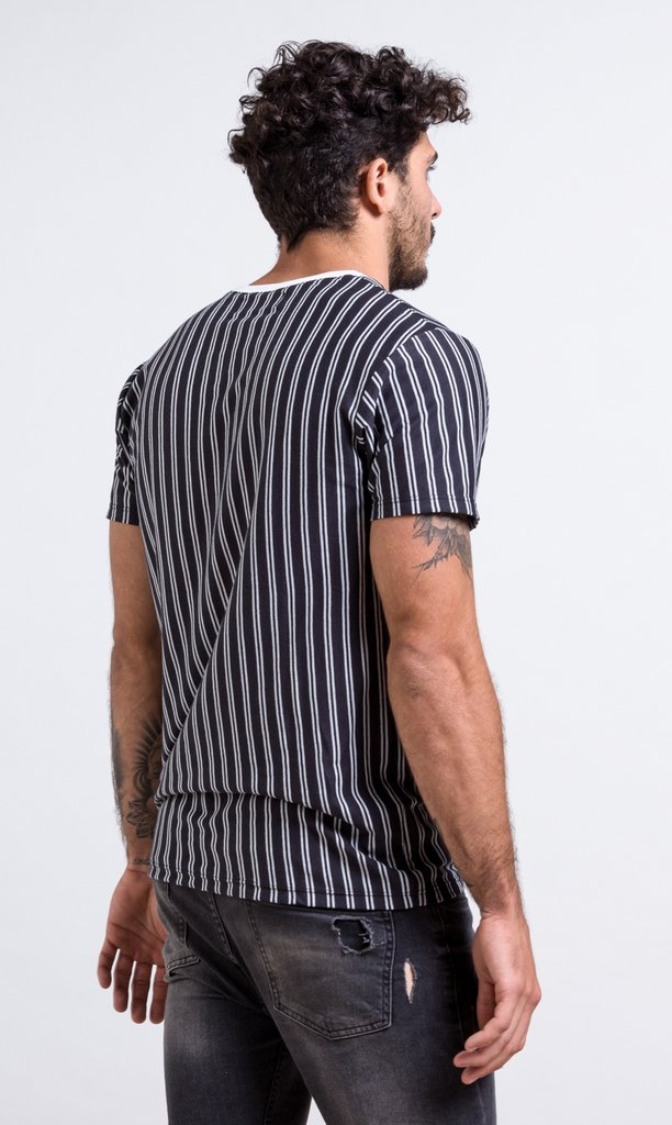 Stripes b & w - regular fit - comprar online