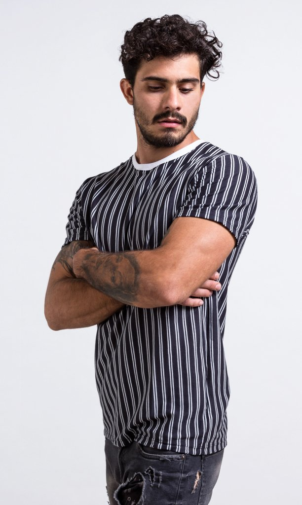 Stripes b & w - regular fit