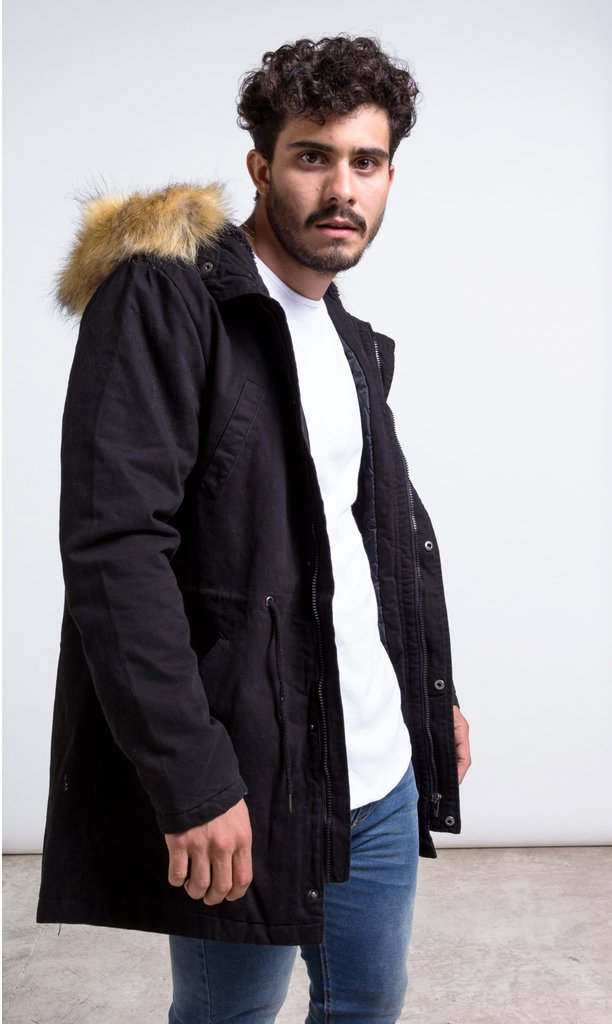 Fur coat Parca - Black