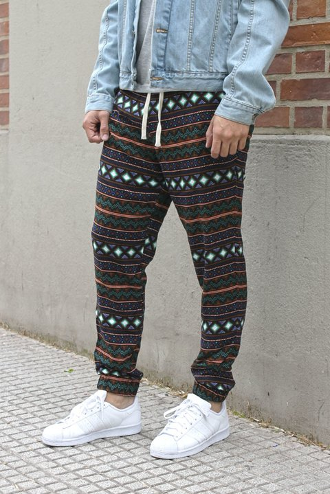Summer pant - native american black