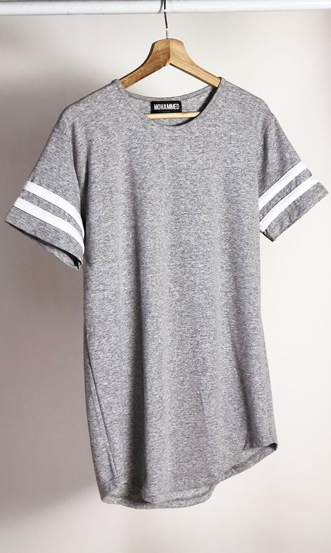 Maxi Tshirt - Stripes Grey on internet