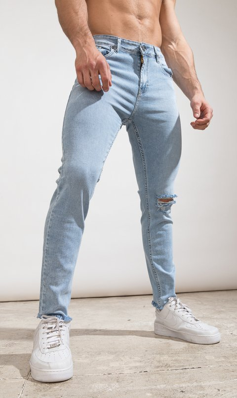 Skinny Jeans - Light blue cut - Harvey & Willys