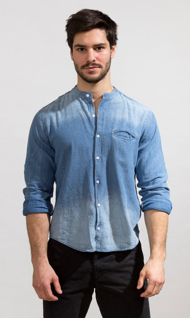 Denim shirt - Mao ho chi minh