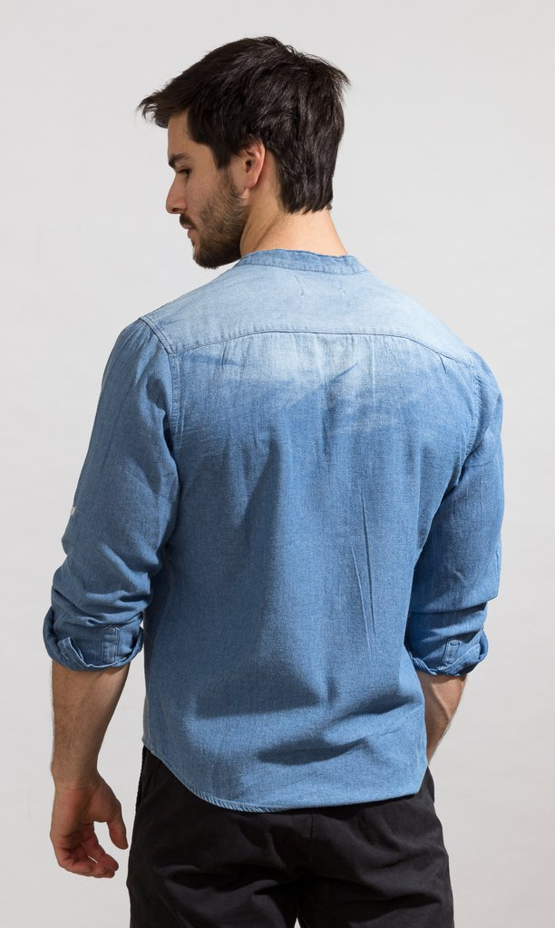 Denim shirt - Mao ho chi minh - buy online