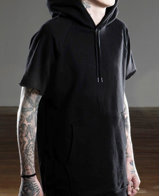 Mohammed Short Sleeve Sweatshirt - BLACK