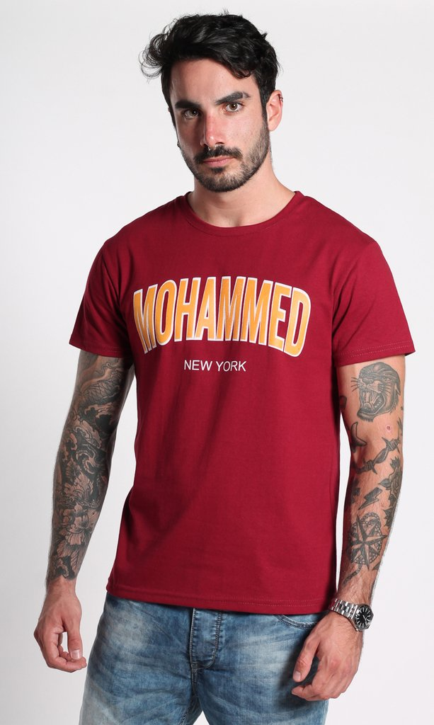 Mohammed Wine and yellow - Regular fit - comprar online