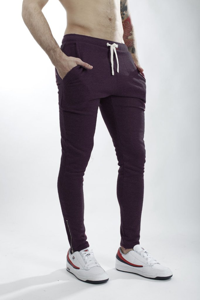 Mohammed Zipper Skinny Jogger - Grape