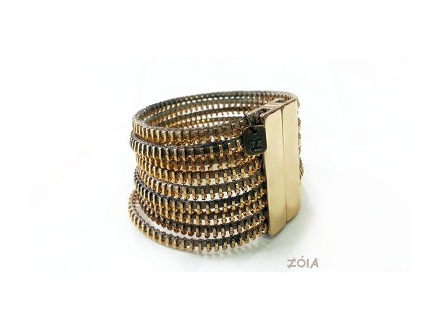 Bracelete Zip Metal