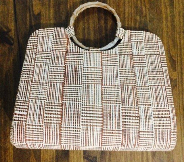 Bolsa De Tecido Com Alça De Bambu : Bolsa de palha buriti com al?a em bambu