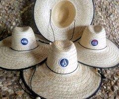 20 Chapéus Surf de Palha Dupla