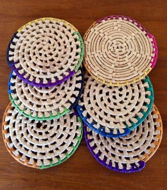 Aparador Vintage Retro Mercadolibre ~ Porta Copos de Palha de Carnaúba