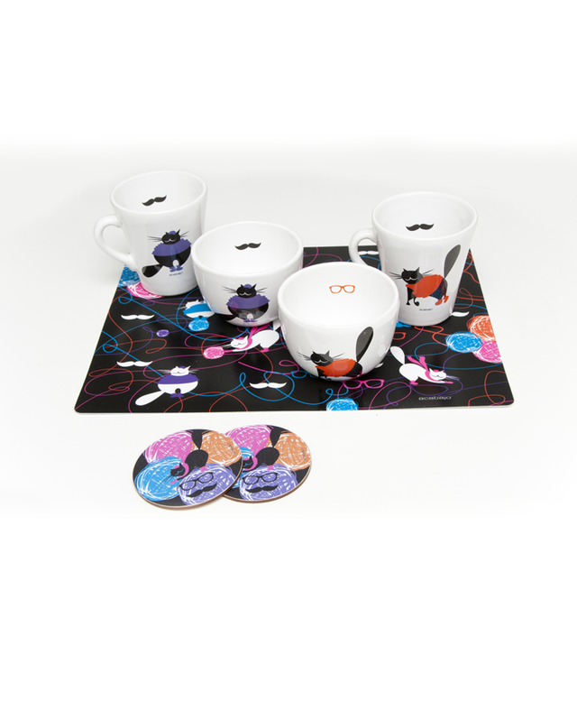 Set taza y bowl Gato