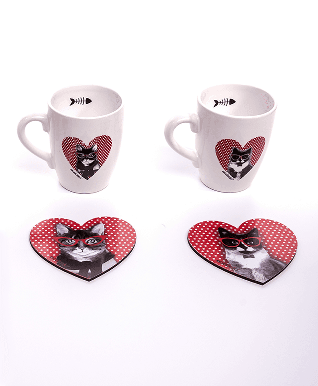 Set Taza Gatos