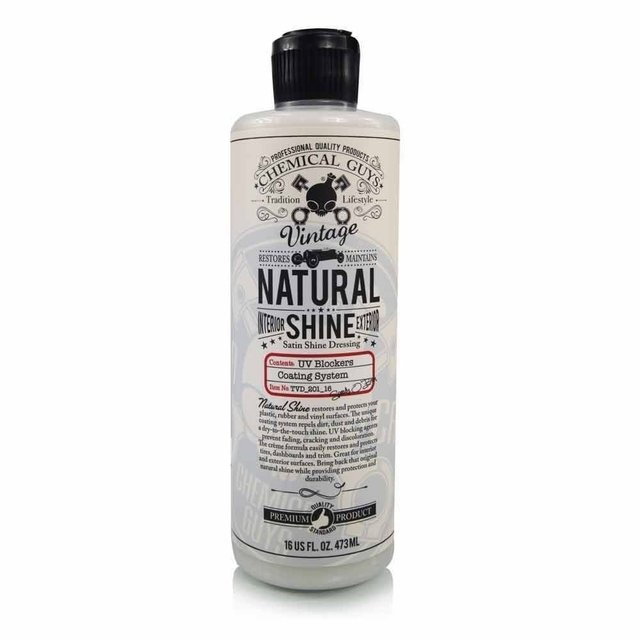 Chemical Guys Vintage Series Natural Shine, Satin Shine Dressing