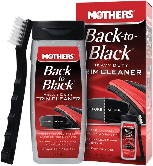 Mothers Back to Black Heavy Duty Trim Cleaner - Limp de frisos e parachoques (236ml)