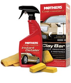 Mothers Clay Bar System - Show Time / Flanela / Clay Bar