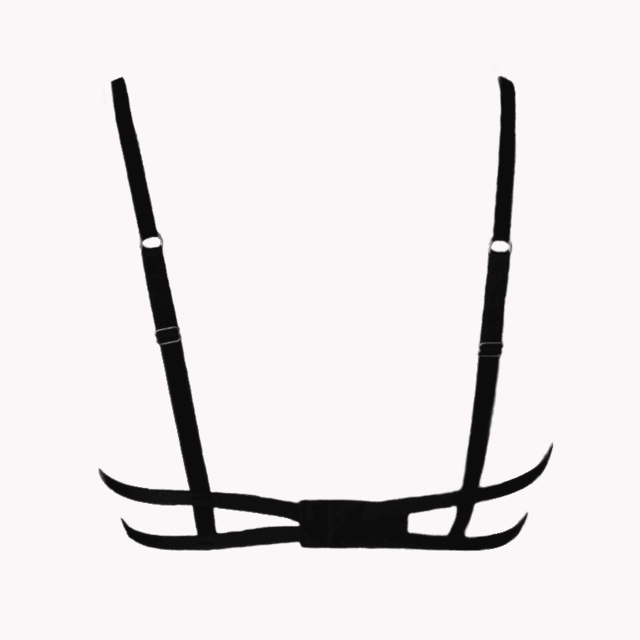 sutiã push-up strappy bra preto Intima Passion - Bariatto