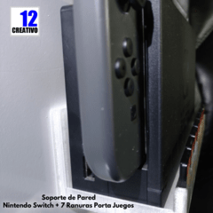 Soporte de Pared Nintendo Switch + 7 Ranuras Porta Juegos en internet