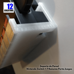 Soporte de Pared Nintendo Switch + 7 Ranuras Porta Juegos - 12creativo