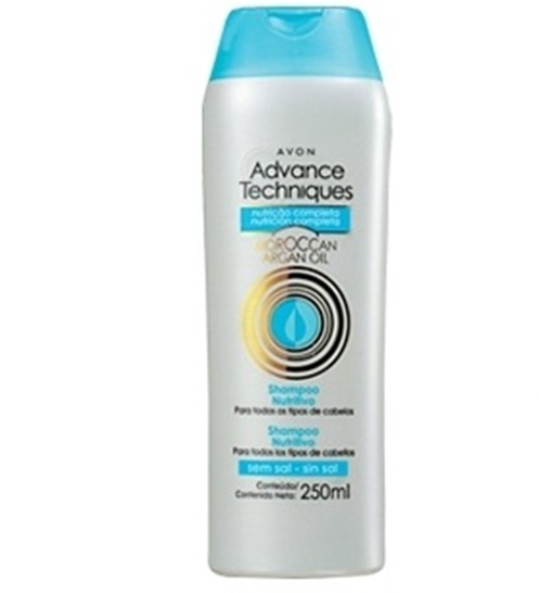 Avon Advance Techniques Shampoo Nutritivo Óelo de Argan 250ml 51495-5