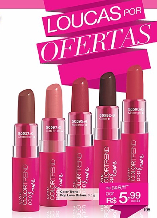 Avon Batom POP LOVE Color Trend 3,6g - comprar online