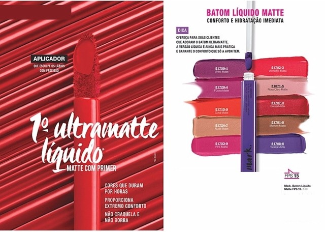 Batom Líquido Matte Avon Mark. 7 ml