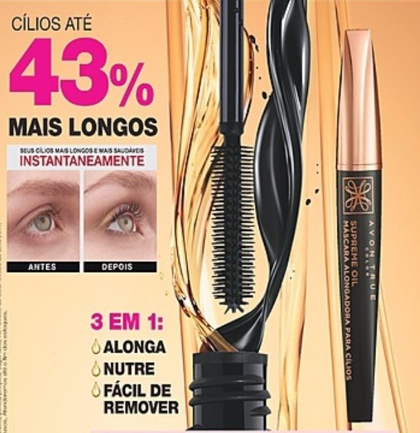 Avon True Máscara Alongadora Supreme Oil 7 g Com Argan