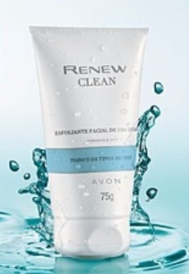 Avon Renew Clean Esfoliante Facial Antiidade 75g