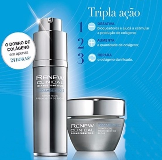 Avon Renew Clinical Collagen 3D Sérum + Creme Facial 30g