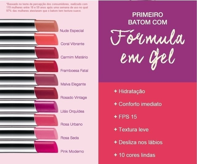 Lilás Orquídea Ultra Color Revolution Batom em Gel Avon na internet