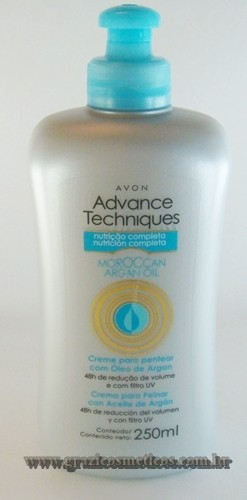Avon Advance Techniques Creme para Pentear com Óelo de Argan 250ml 51657-5