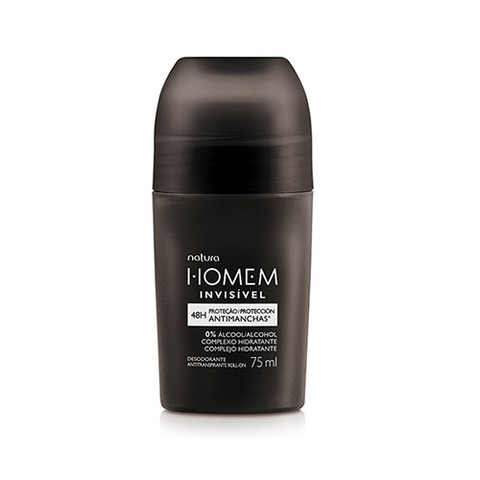 Natura Homem Invisível Desodorante Antitranspirante Roll-on 75ml