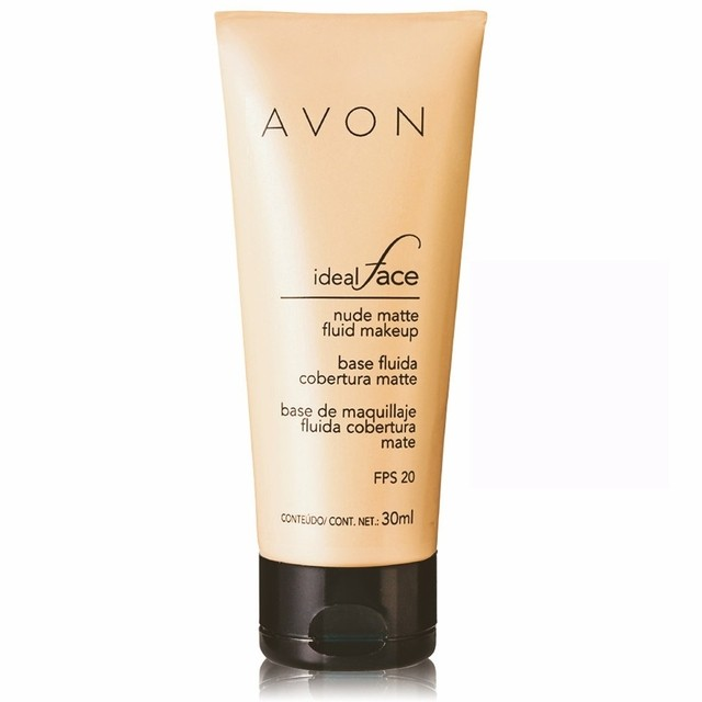 Avon Ideal Face Base Fluida Cobertura Matte FPS 20 30ml - comprar online