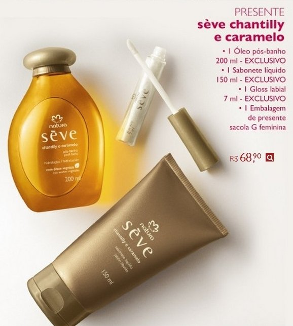 Natura Presente Sève Chantilly e Caramelo 200ml 45575