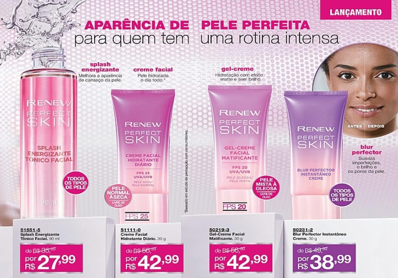 Avon Renew Perfect Skin Creme Facial Hidratante Diário FPS 25 30g