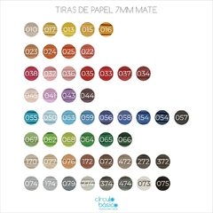 Papel para quilling -  Kit por 10 paquetes colores mate - 7mm - comprar online
