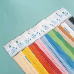 Papel para quilling -  Kit por 10 paquetes colores mate - 7mm