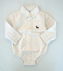 Body camisa tela oxford Carters 12 meses