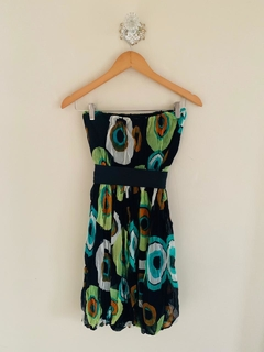 Vestido strapless crepe Salsipuedes T.S