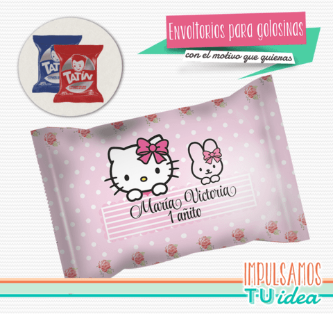 Hello Kitty - Envoltorio Alfajor para imprimir
