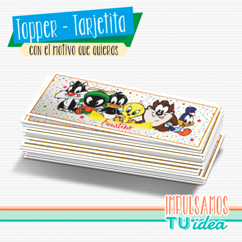 Baby Looney Tunes - Sticker rectangular para imprimir
