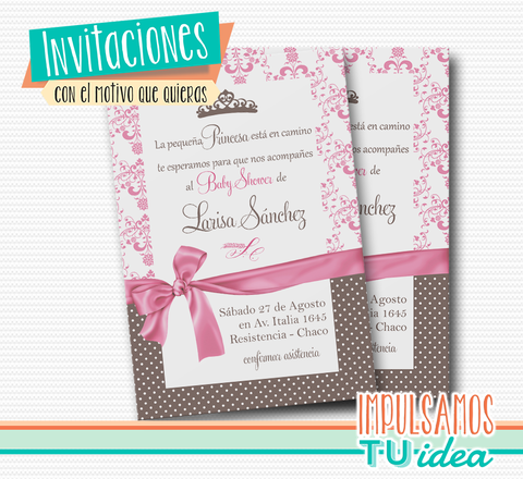 Tarjetita baby shower - Invitación baby shower para imprimir