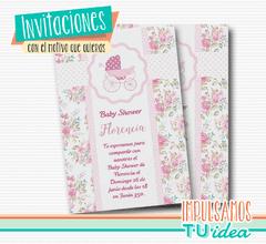 Shabby Chic Invitación Baby Shower Invitación Para Imprimir