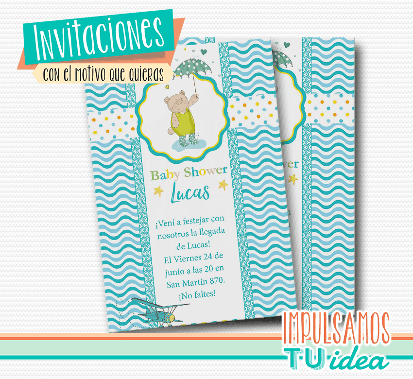 Baby Shower Varón Invitación Baby Shower Para Imprimir
