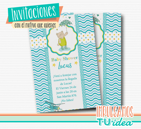 Baby shower varón - Invitación baby shower para imprimir