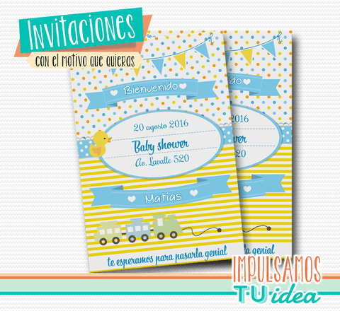 Baby shower invitación - Invitación baby shower para imprimir