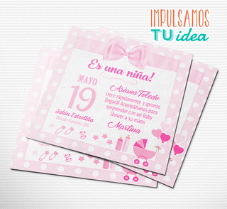 Baby shower nena, invitación baby shower IMPRIMIBLE